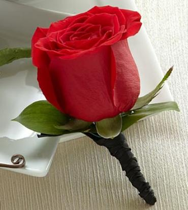 The Red Rose Boutonniere