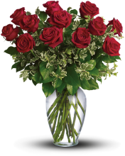 Always on My Mind PM - Long Stemmed Red Roses