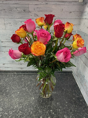 2 Dozen Mixed Color Roses